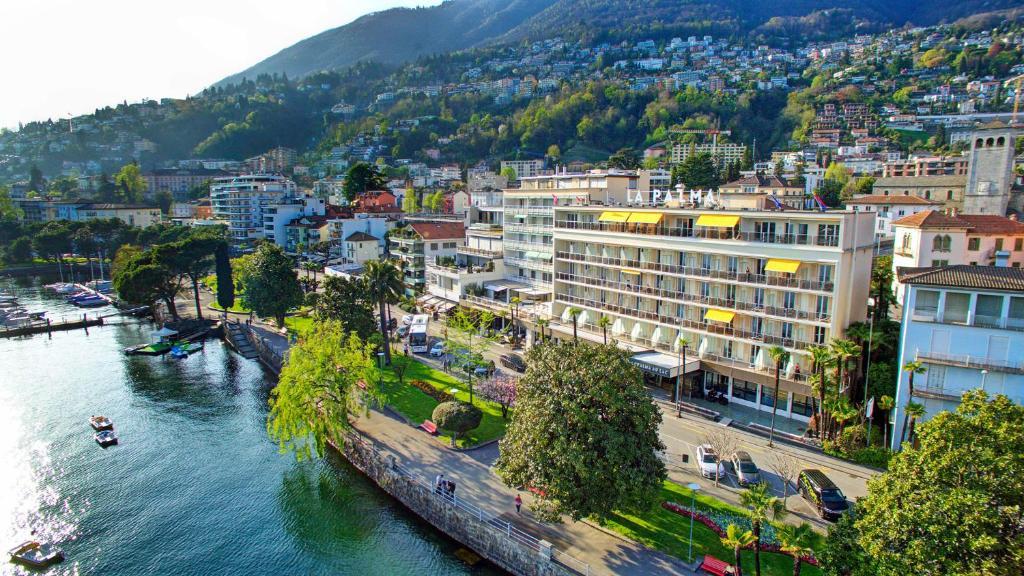 Blick auf Hotel la Palma au Lac aus der Vogelperspektive