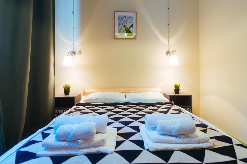 Кровать или кровати в номере Hotel Shuhov dacha