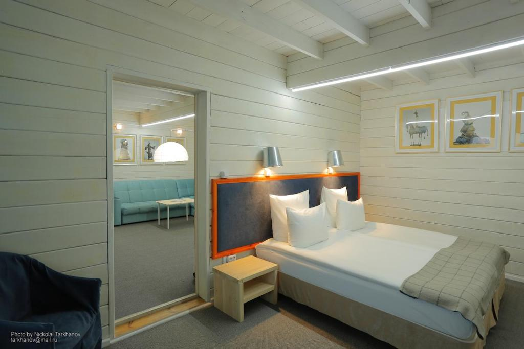 Кровать или кровати в номере Baikal View Hotel