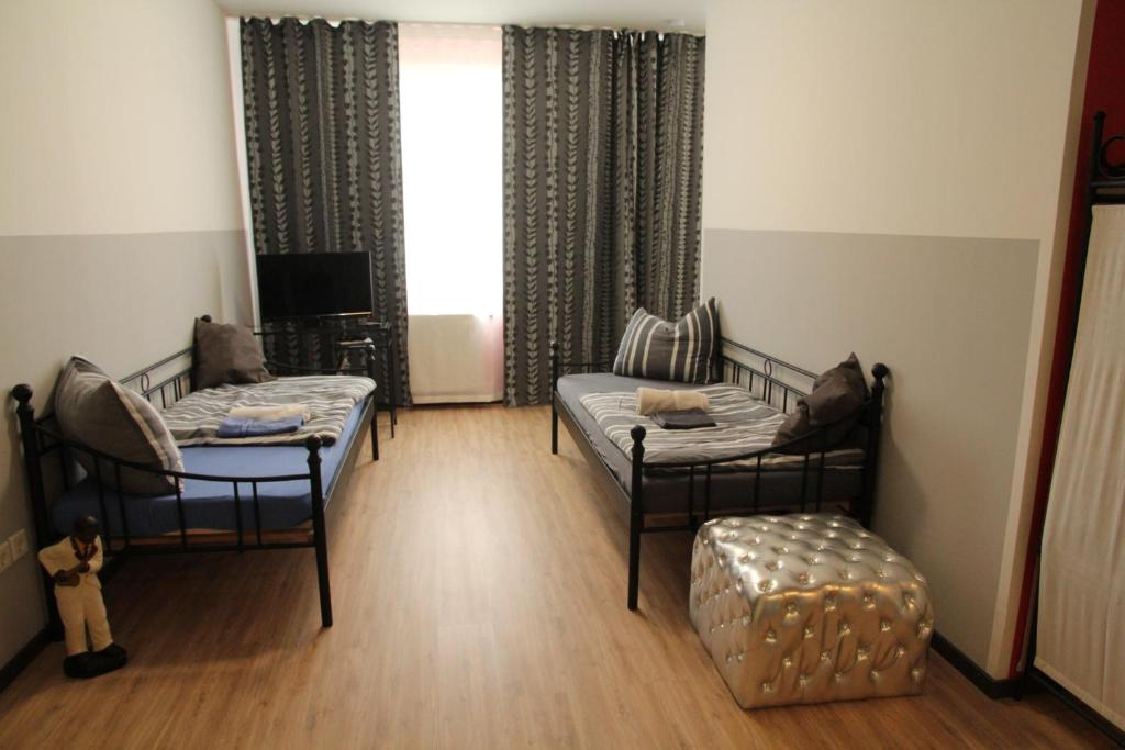 Ein Sitzbereich in der Unterkunft Apartments Schlafoase Iserlohn