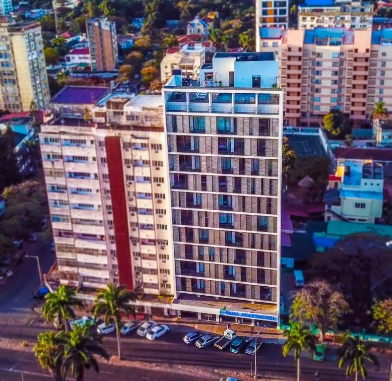 A bird's-eye view of Palm Aparthotel