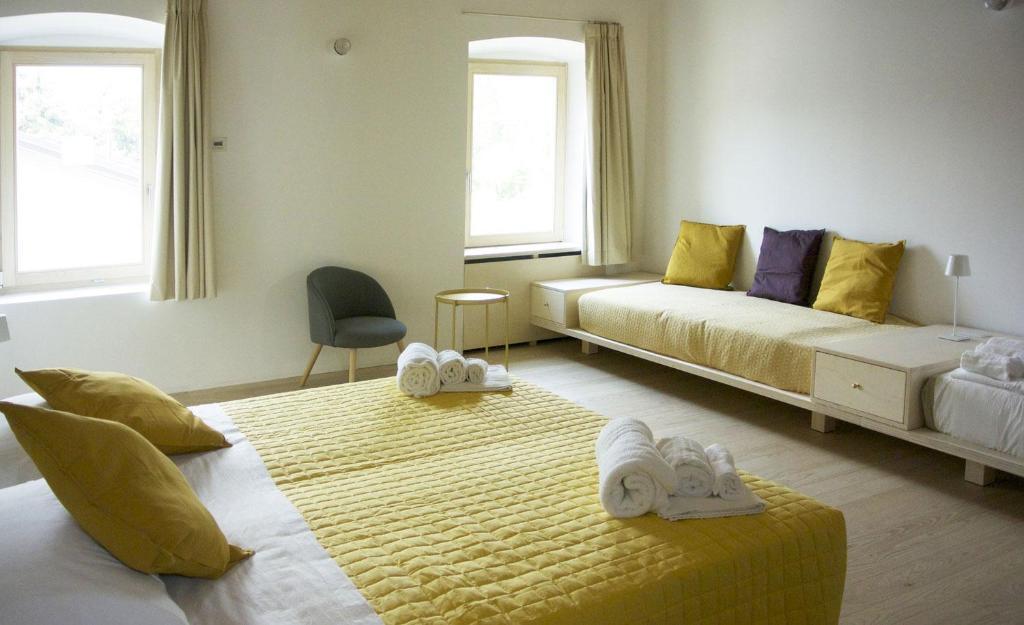 Uma cama ou camas num quarto em Agriturismo La Derta
