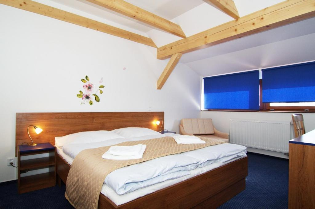 A bed or beds in a room at Hotel Pod Sluncem