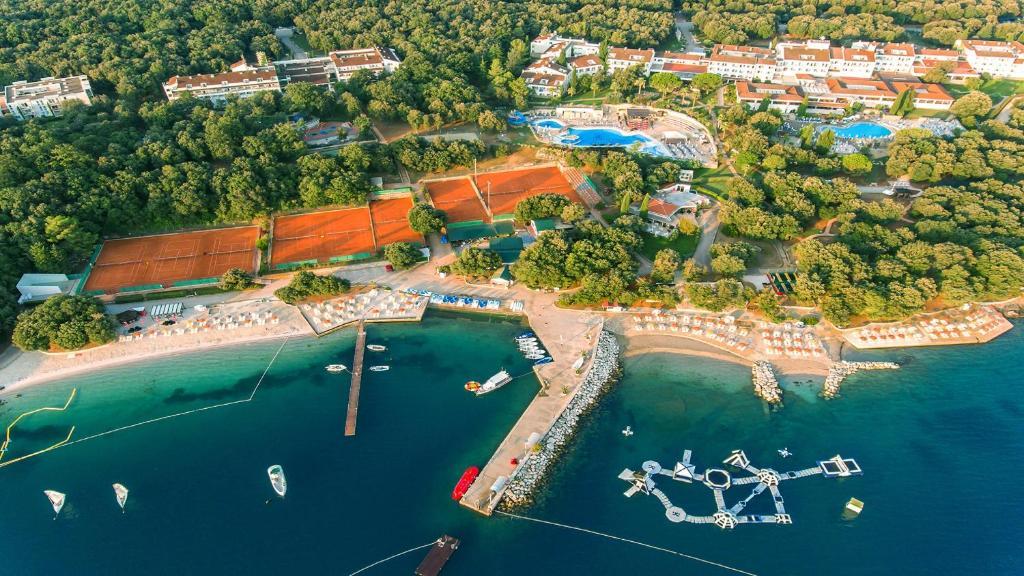 Blick auf Valamar Tamaris Resort aus der Vogelperspektive