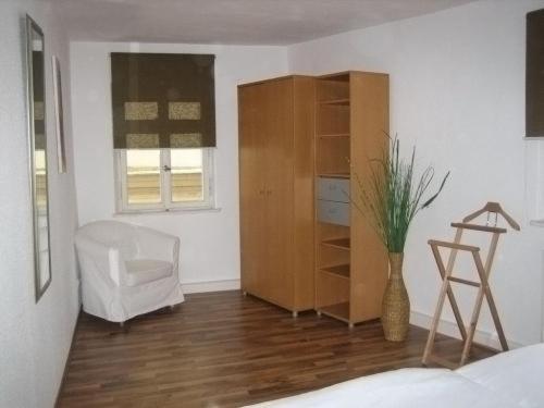 Ein Sitzbereich in der Unterkunft Hotel Allee No. 4