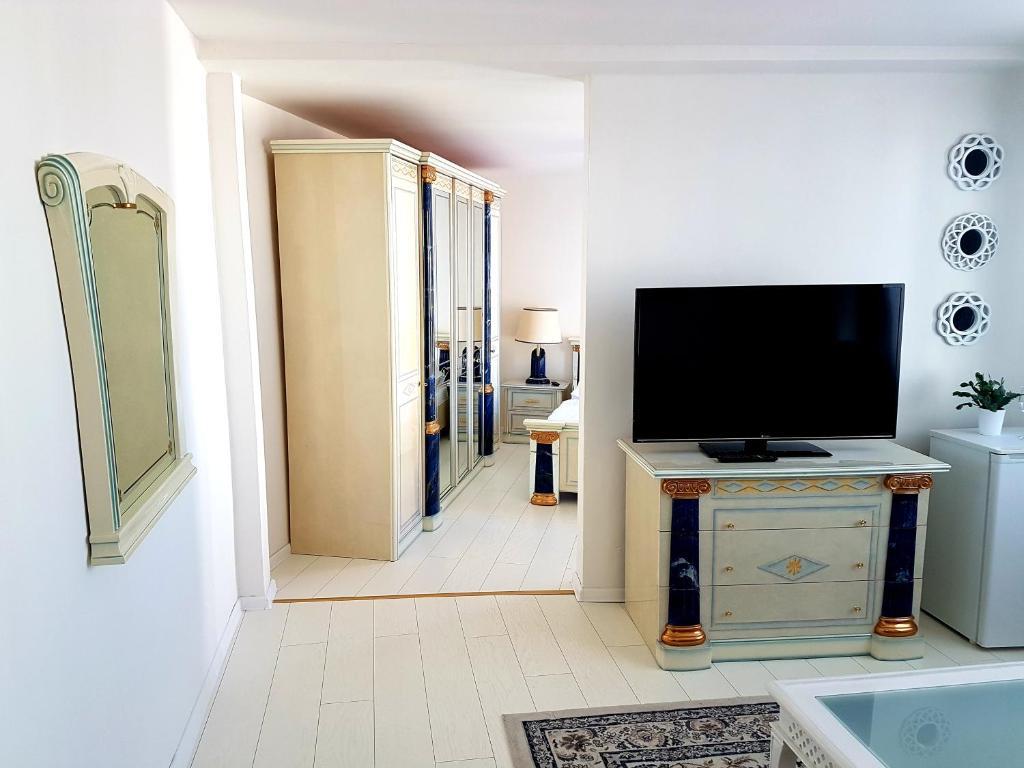 TV a/nebo společenská místnost v ubytování Hotel Union