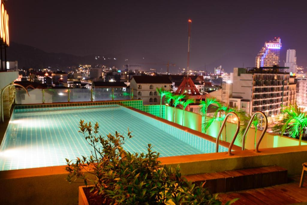 The swimming pool at or near Patong Mansion