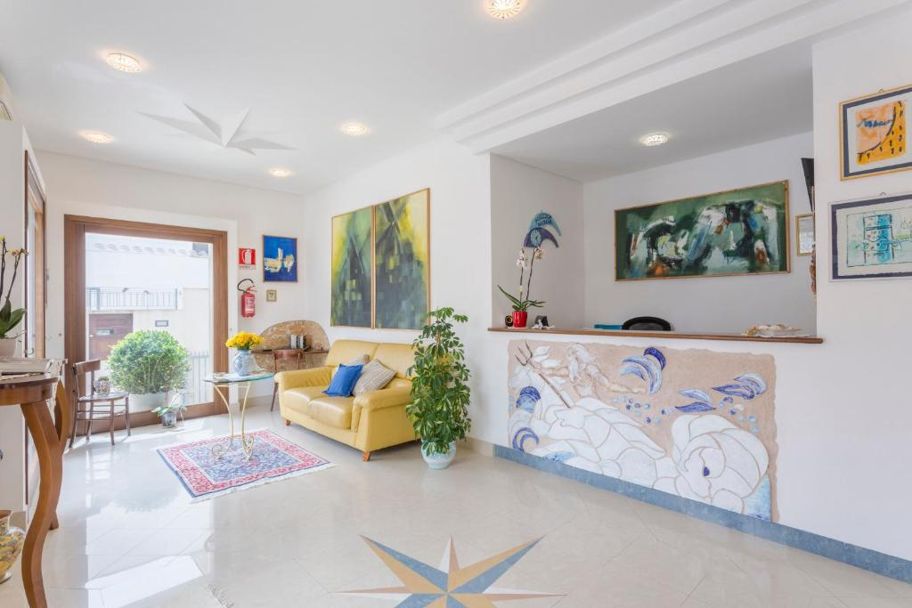 The lobby or reception area at Poseidon Residence