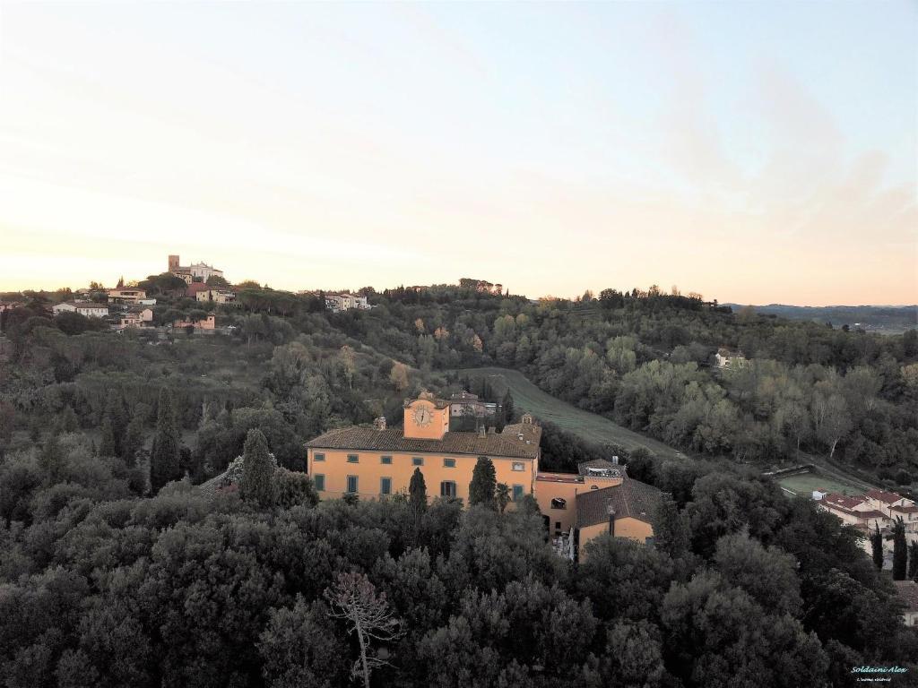 A bird's-eye view of Villa Sonnino