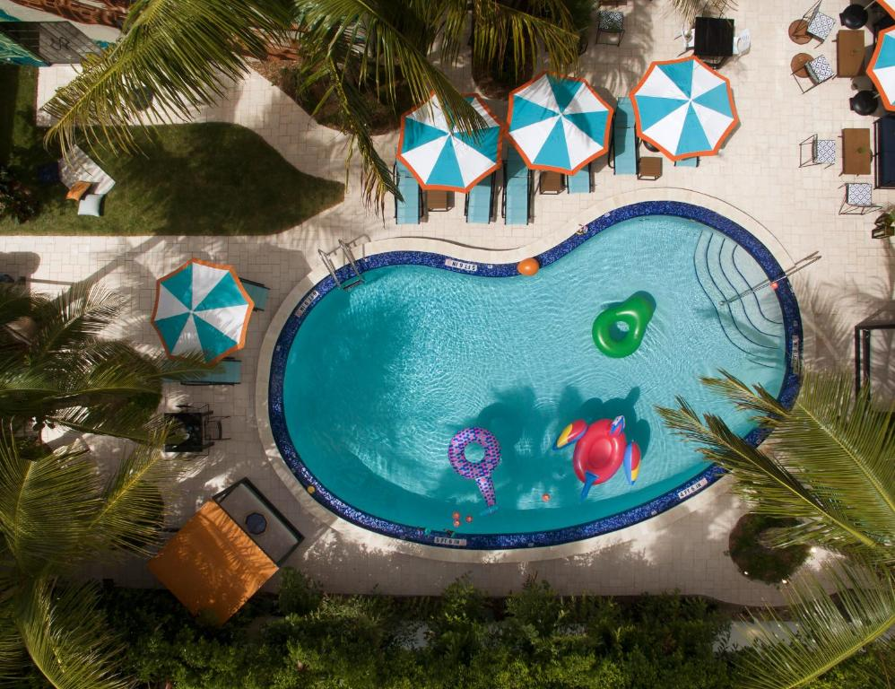 A view of the pool at Generator Miami or nearby