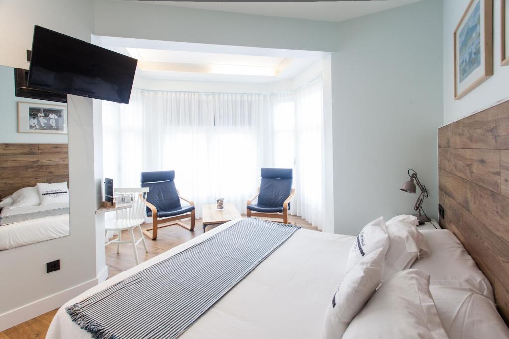 Cama o camas de una habitación en Aldamar