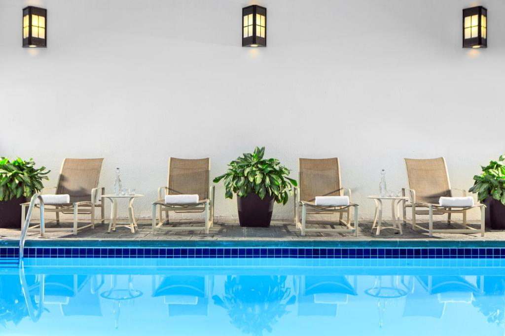 The swimming pool at or near Renaissance Denver Central Park Hotel