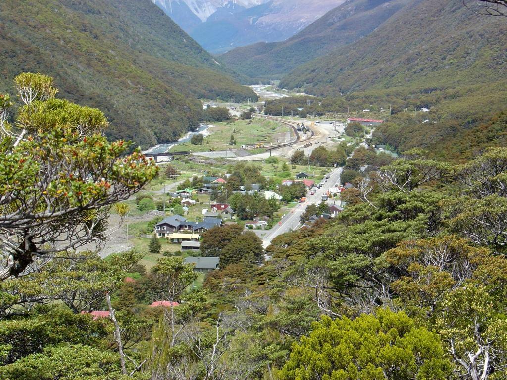 A bird's-eye view of Arthur's Pass Alpine Motel