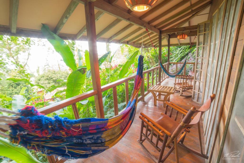 A balcony or terrace at Samasati Yoga & Wellness Retreat