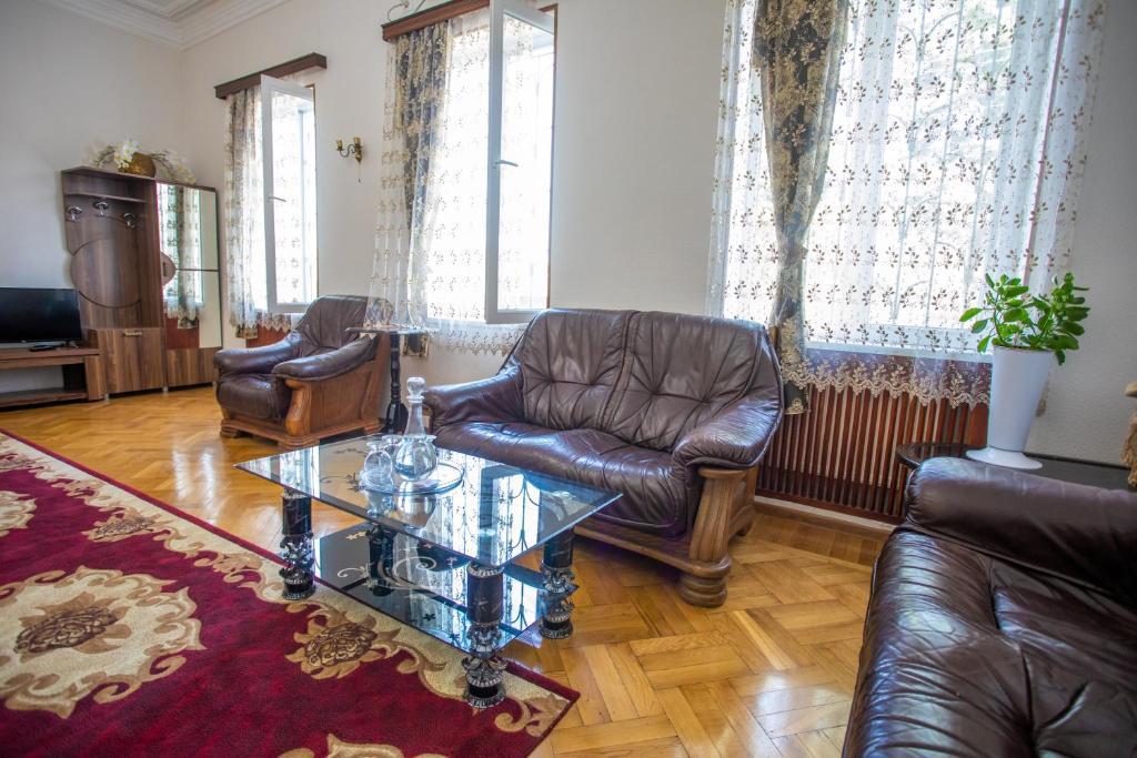 A seating area at Kutaisi Hotel California