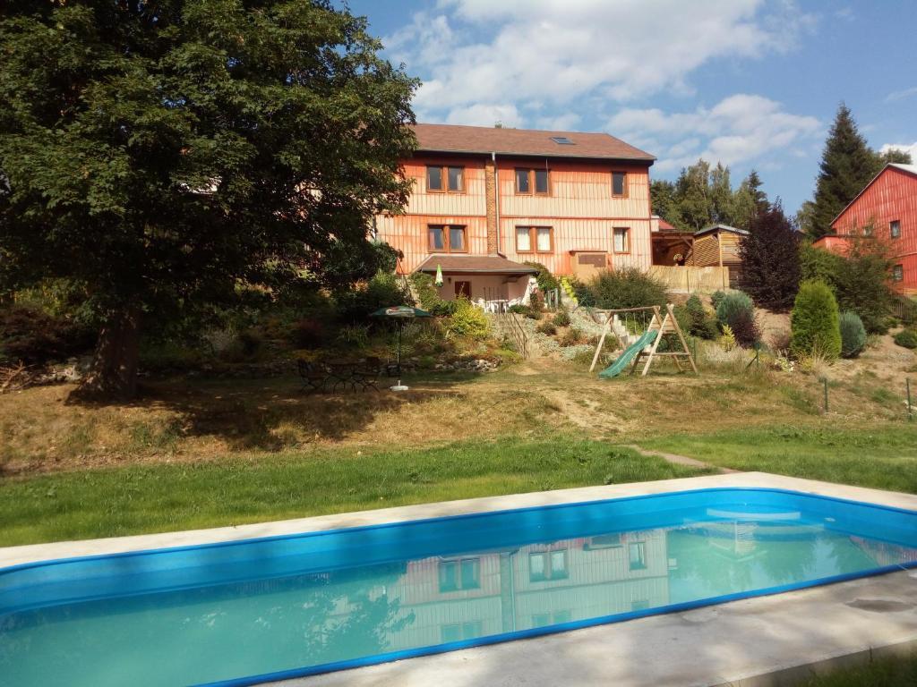 The swimming pool at or near Chata Alžběta