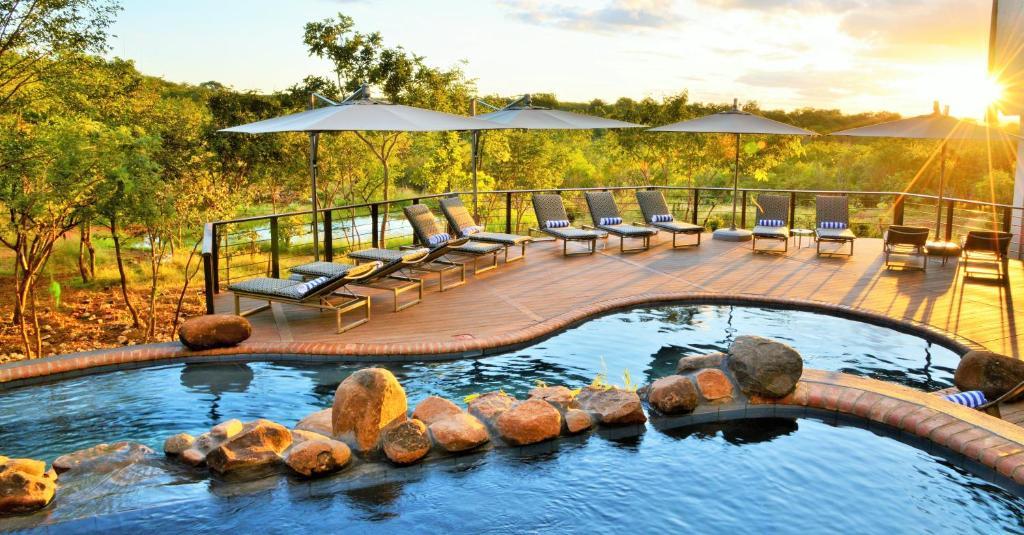 The swimming pool at or near Victoria Falls Safari Club
