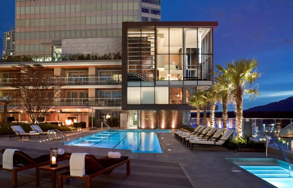 The swimming pool at or near Fairmont Pacific Rim