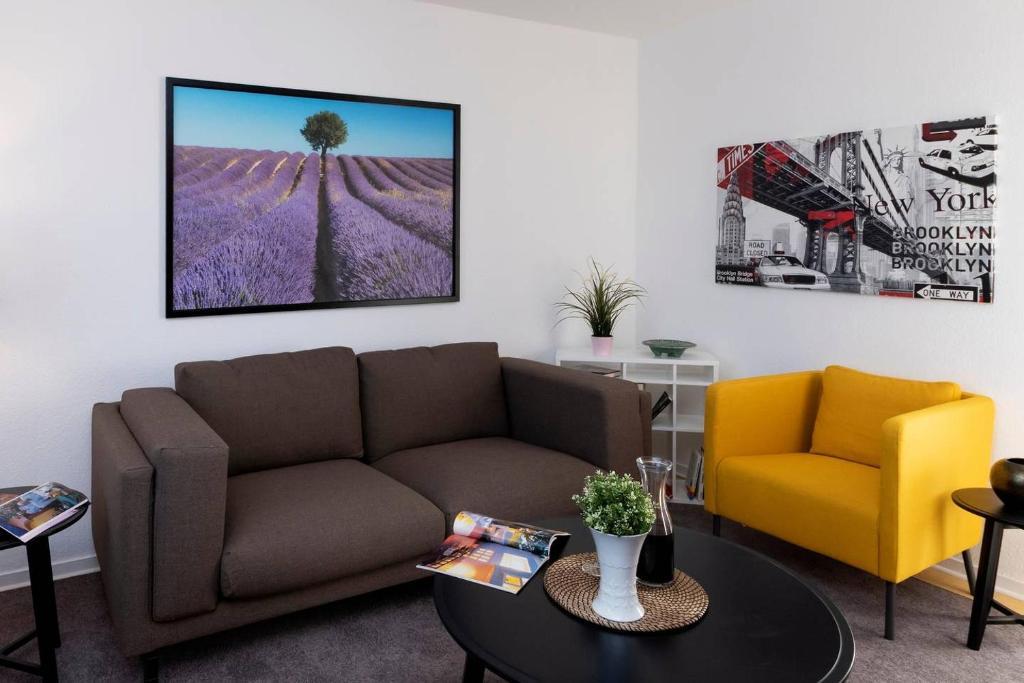 Ein Sitzbereich in der Unterkunft Abendrot Appartement