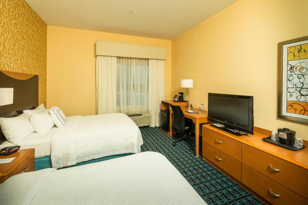 A television and/or entertainment center at Fairfield Inn and Suites by Marriott Augusta