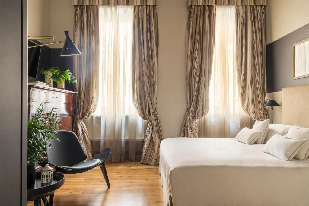 Cama o camas de una habitación en Crossing Condotti