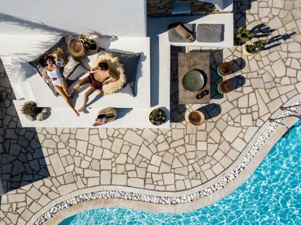 A view of the pool at A Hotel Mykonos or nearby