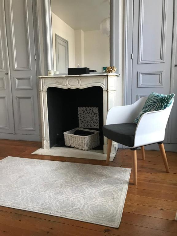 A seating area at Maison Victor Hugo