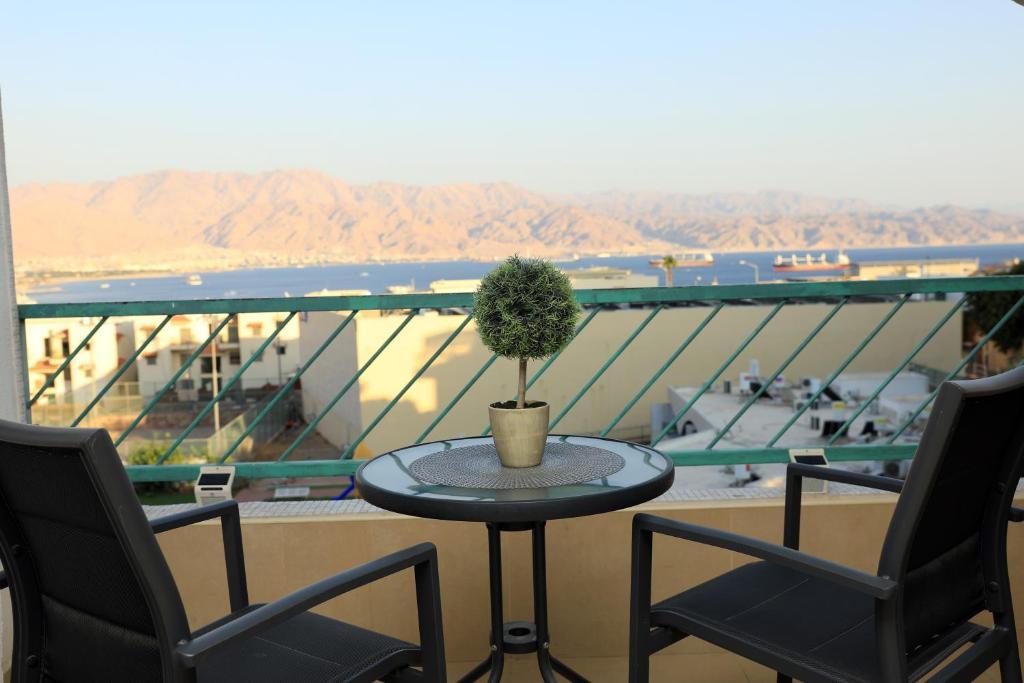 Balkon oz. terasa v nastanitvi נוף לים האדום - sea view eilat