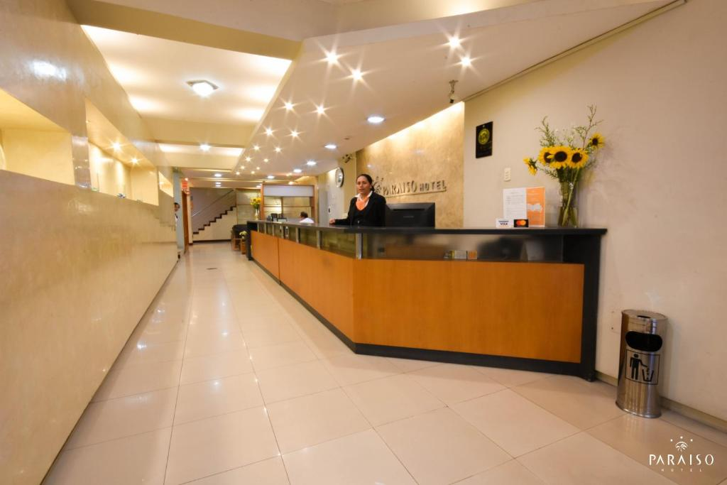 The lobby or reception area at Paraíso Hotel Chiclayo I