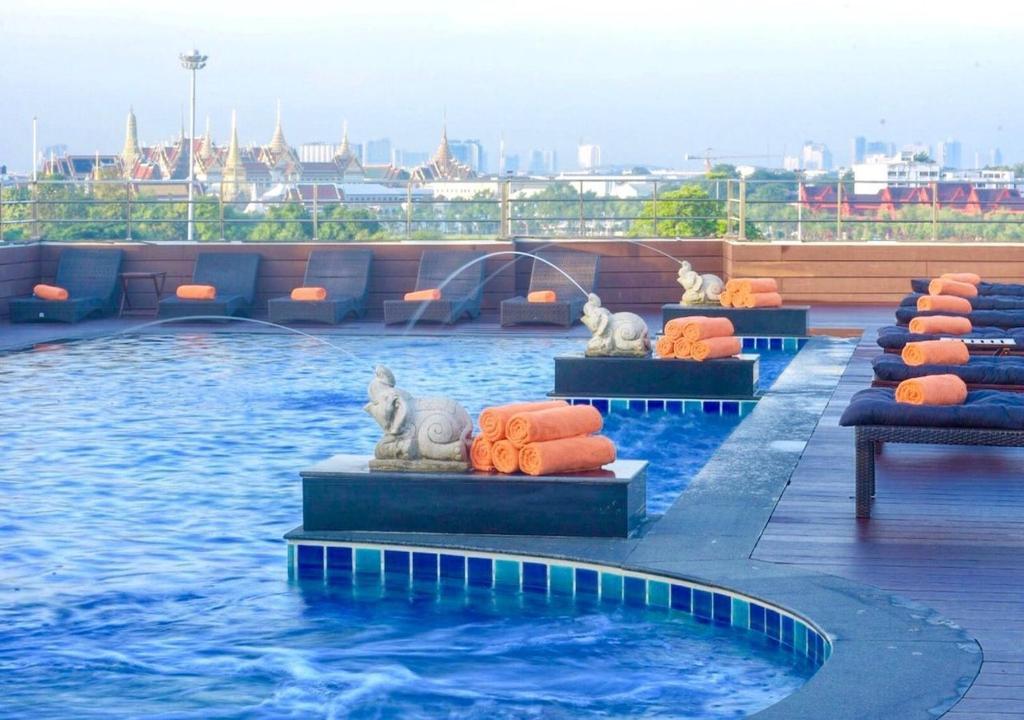 The swimming pool at or near D&D Inn Khaosan
