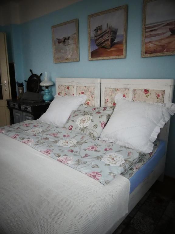 Postel nebo postele na pokoji v ubytování Venkovské apartmány Tiché pastviny