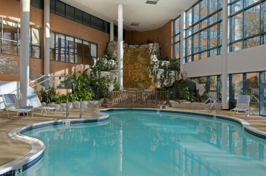 The swimming pool at or near Hilton Long Island/Huntington