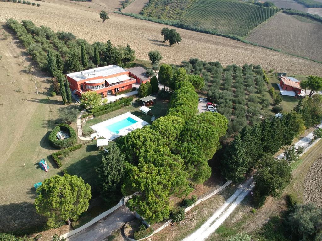 Vista aerea di Agriturismo Shanti House