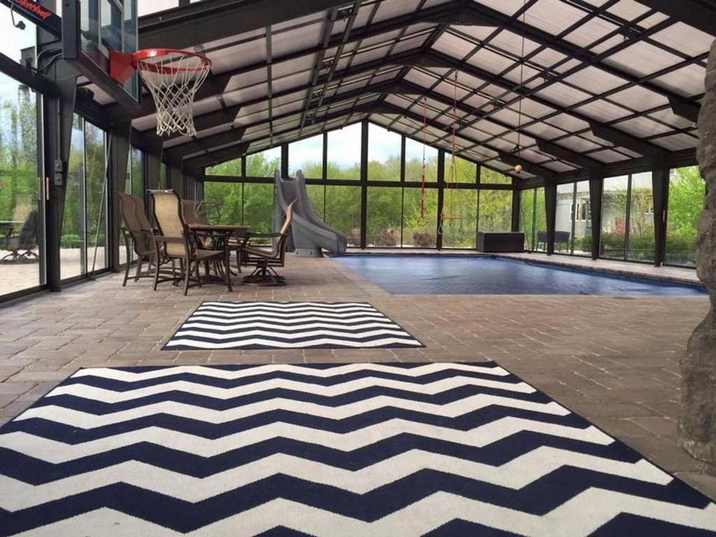 Vacation Home Most Fun Home In Wisconsin Indoor Heated Pool Basketball Court Rock Climbing Wall Ropes Obstacle Course Play Set Trampoline Fire Pit Grill Patio 84 Inch Tv And So Much More Fond Du Lac