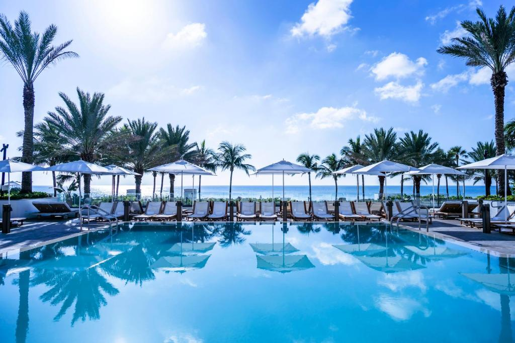 The swimming pool at or near Nobu Hotel Miami Beach