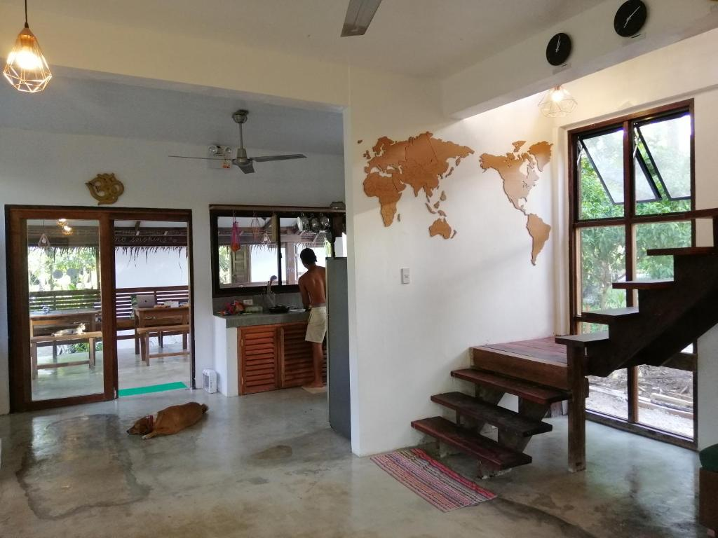 The lobby or reception area at Secret Spot Siargao