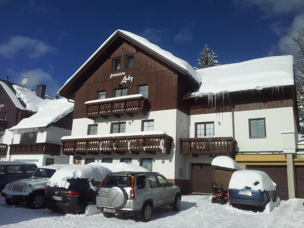 Pension Luky during the winter