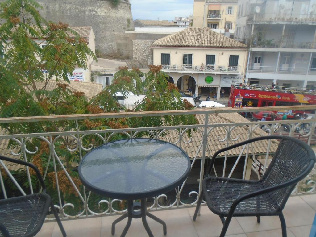 Balcon ou terrasse dans l'établissement tonias place