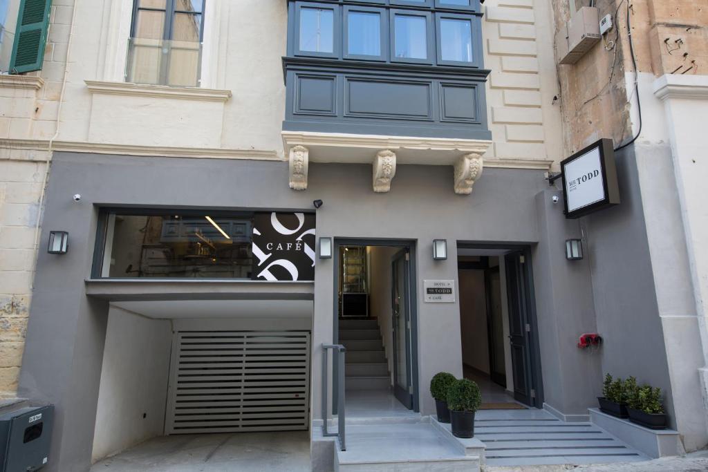 The facade or entrance of Mr. Todd Hotel