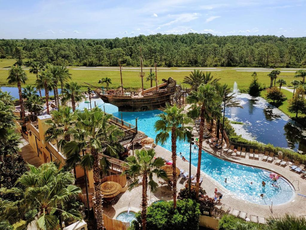A view of the pool at Lake Buena Vista Resort Village and Spa, a staySky Hotel & Resort Near Disney or nearby