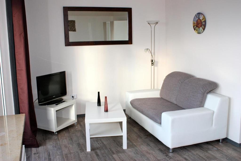 Ein Sitzbereich in der Unterkunft Apartment Fairview