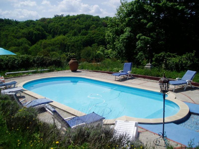 The swimming pool at or near Château de Monteux