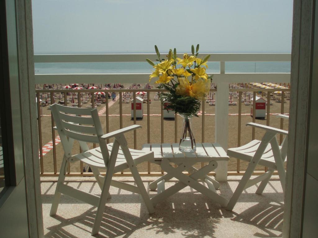 Balkón nebo terasa v ubytování Hotel Tizian Beach
