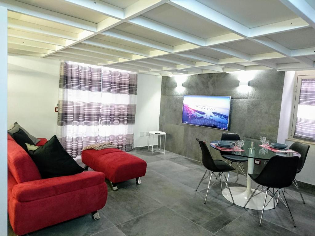 """A seating area at """"WE"""" House Naples"""