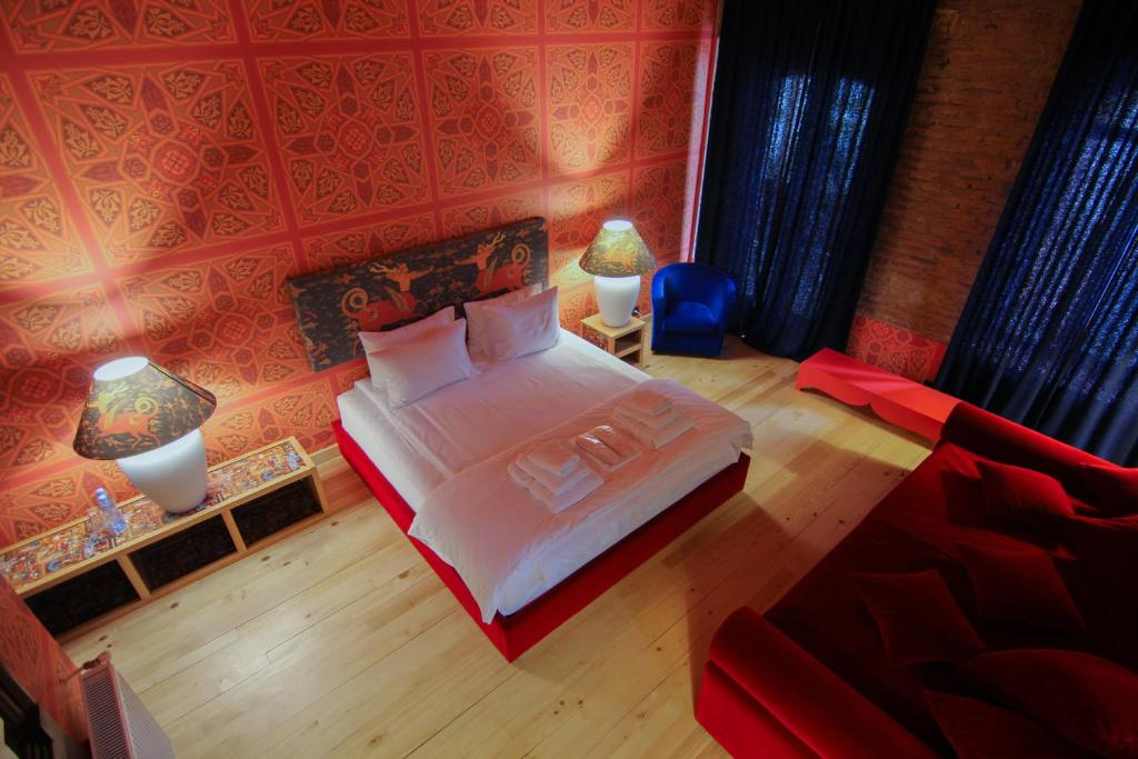 A bed or beds in a room at Erekle II