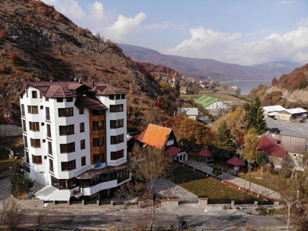 A bird's-eye view of Hotel Alpine