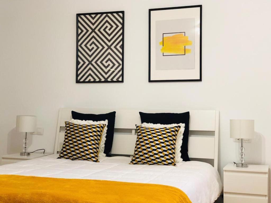 Cama o camas de una habitación en Lovely Apartment in Lanzarote
