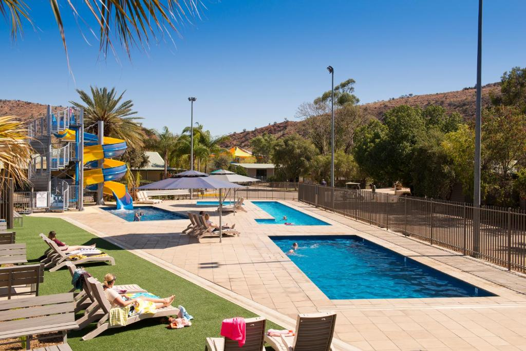 The swimming pool at or near BIG4 MacDonnell Range Holiday Park