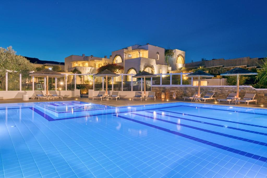 The swimming pool at or near Ostria Inn