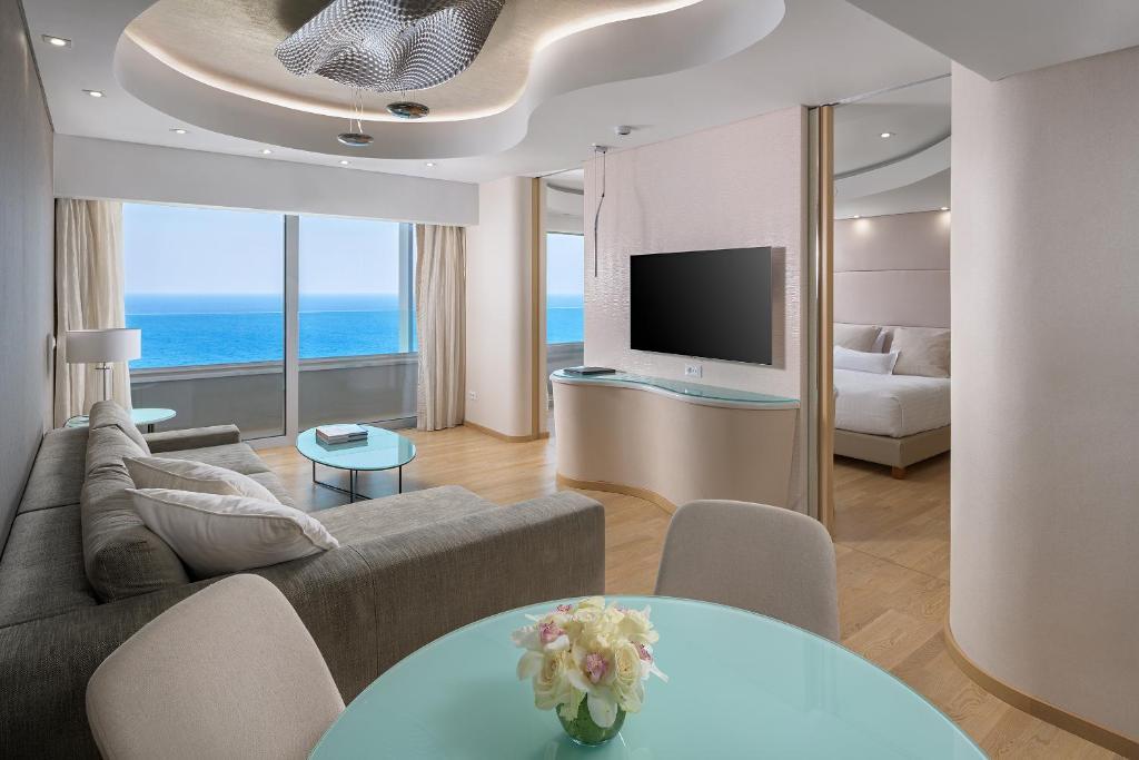 אזור ישיבה ב-Rodos Palace Hotel